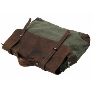 army green Messenger canvas bag