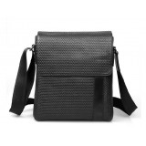 Leather mens messenger bag, mens black messenger bag