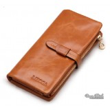 Ladies wallet leather, leather trifold wallet