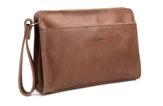 Leather clutch bag, genuine leather bag - BagsWish