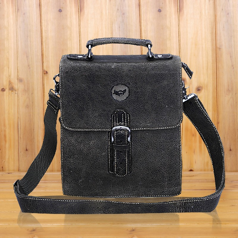 Mens Leather Messenger Bag Vertical Bags