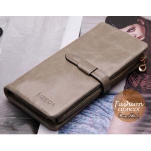 grey Ladies wallet leather