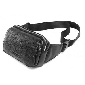 Leather waist purse, lumbar pack