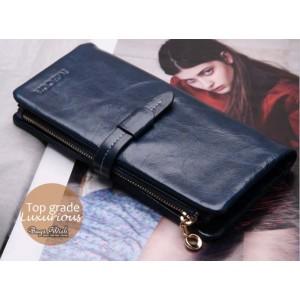 navy Ladies wallet leather