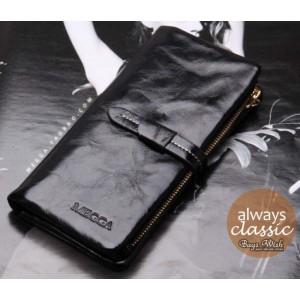 black Ladies wallet leather