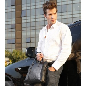 coffee leather laptop briefcase