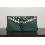 Clutch bag, leather vintage purse