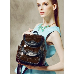 brown Stylish leather backpacks