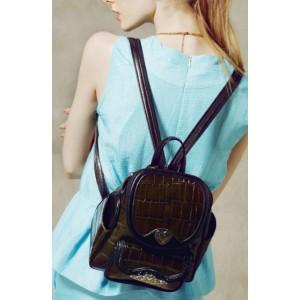 brown vintage backpack