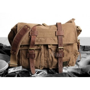 14 inch laptop canvas leather satchel