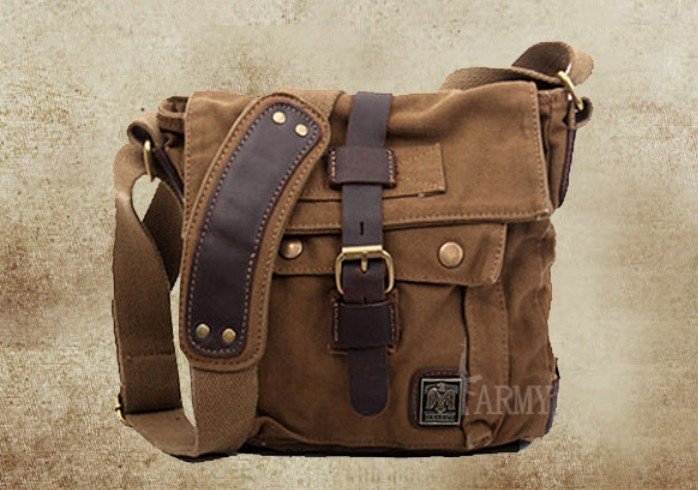 IPAD casual canvas shoulder bag, small canvas messenger bag men ...