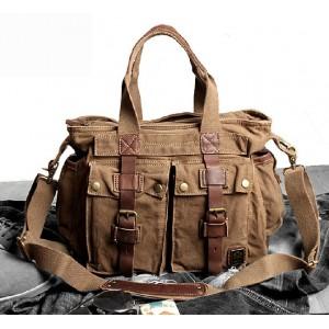Cotton canvas messenger bag, best handbag