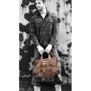 vintage Cotton canvas messenger bag