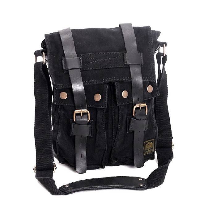 ... black IPAD2 mens canvas shoulder bag ... 196ad7fc6cc9b