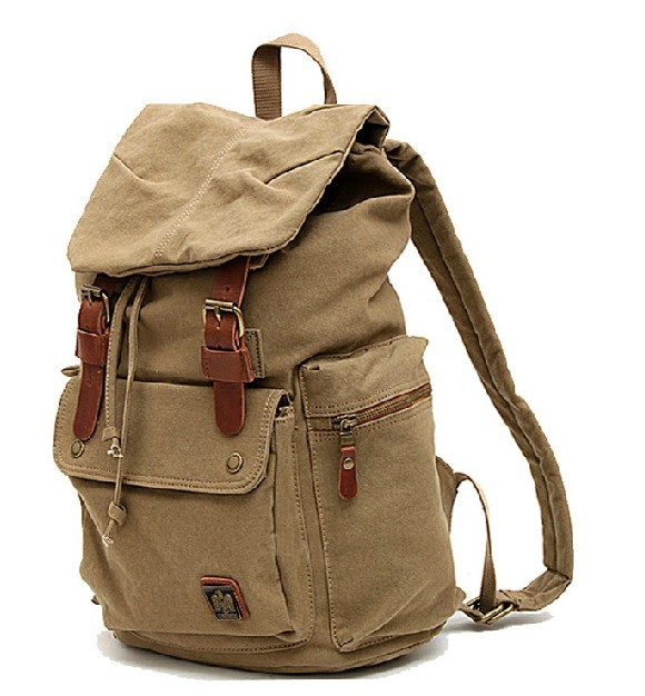 Casuel canvas backpack, college backpack - BagsWish
