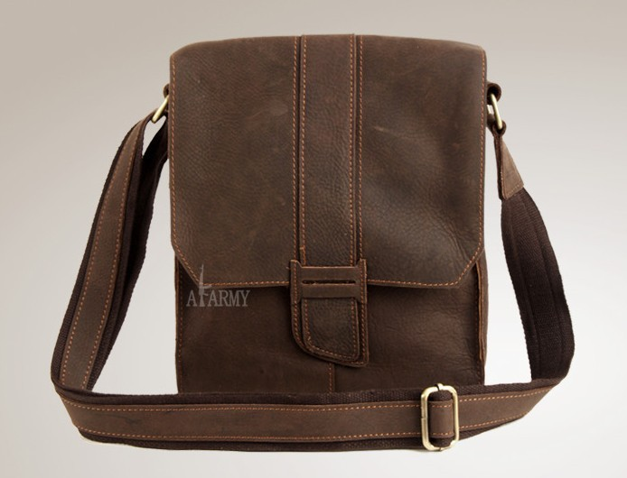 Coffee Small Messenger Bag Brown Vintage Bags For Men