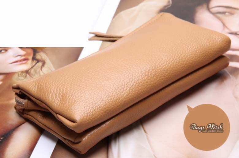 apricot leather wallet