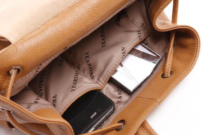 914823d8b5445a ... backpacks; leather daypack backpack; cowhide Cute girl backpack ...