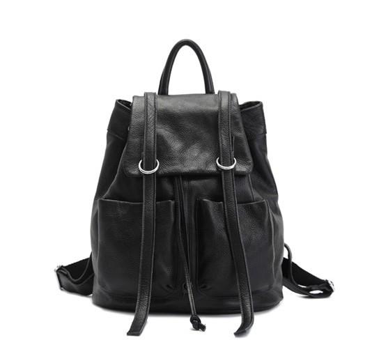 14d16d48e63324 ... cowhide daypack backpack; black Cute girl backpack ...