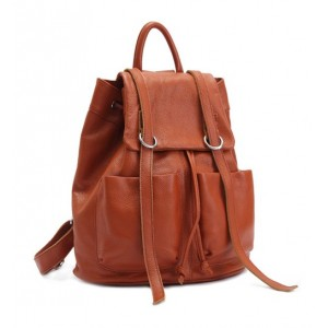 brown daypack backpack