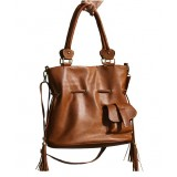 Courier shoulder bag, genuine leather purse