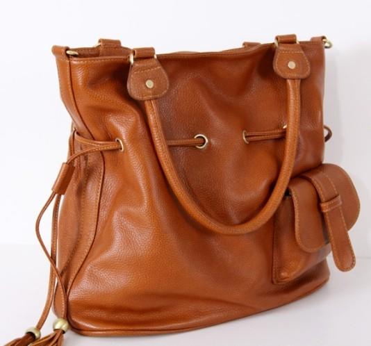 Courier shoulder bag, genuine leather purse - BagsWish