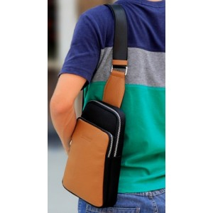 shoulder sling bag black