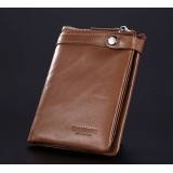 Soft leather wallet brown, black tough leather wallet