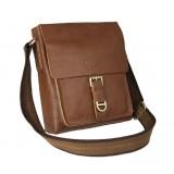 Leather shoulder bag, travel messenger bag