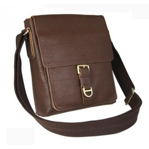 coffee Leather shoulder bag