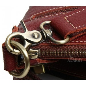 brown Men leather messenger bag