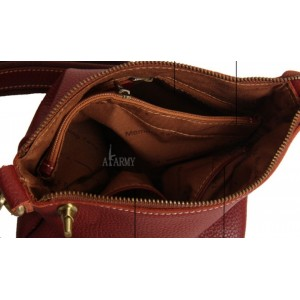 brown personalized messenger bag