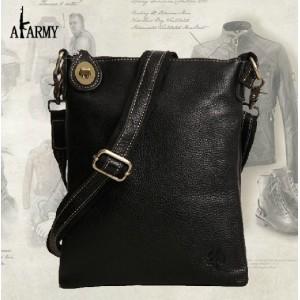 black personalized messenger bag