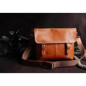 brown shoulder messenger bag