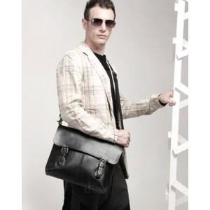 black shoulder messenger bag