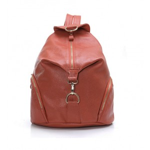Travel backpack, women leather backpack