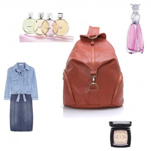 brown women leather backpack