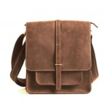 brown funky messenger bag