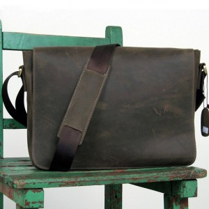 brown Leather messenger bags men