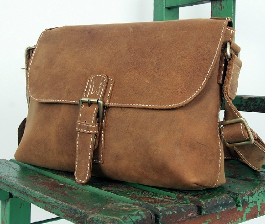 Leather satchel mens, professional messenger bag - BagsWish