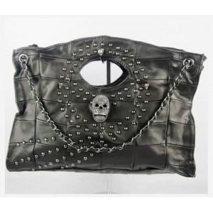 black leather satchel handbag