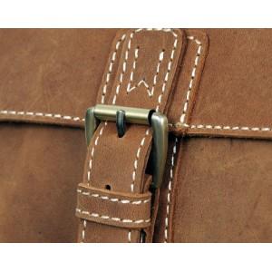 khaki Leather satchel mens