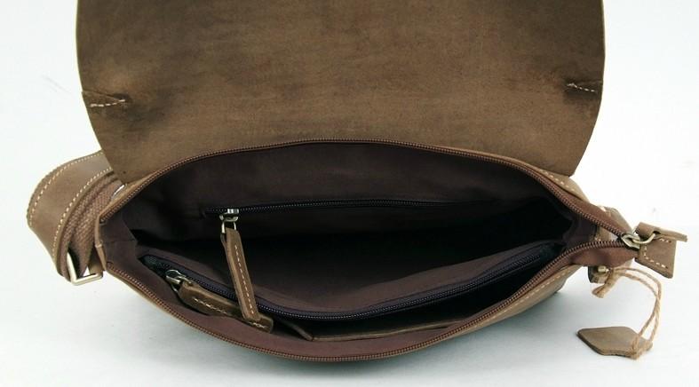 5fc79ca950 ... khaki professional messenger bag  cowhide Leather satchel mens ...