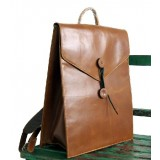 brown Vintage canvas backpack for women
