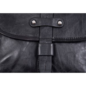 black messenger bag leather