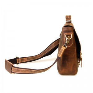 khaki leather briefcase