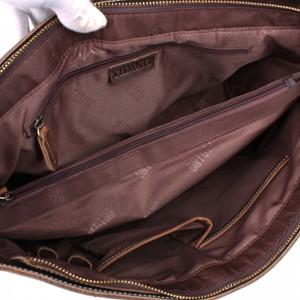 khaki Vintage leather briefcase mens