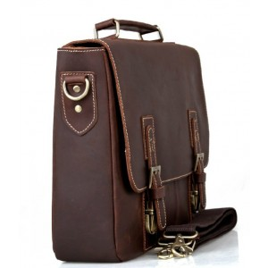coffee Vintage leather briefcase