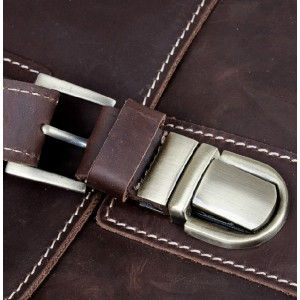 Vintage leather briefcase coffee