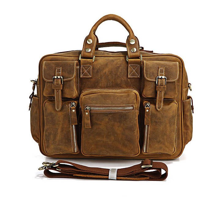 Briefcases For Men Leather Coffee Business Briefcase
